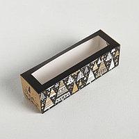 Коробочка для макарун 'Волшебный Новый год', 18 x 5.5 x 5.5 см (комплект из 10 шт.)