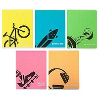Тетрадь 48 листов в клетку 'Будь собой!', обложка мелованный картон, флюоресцентная, МИКС (комплект из 3 шт.)