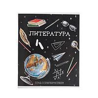 Тетрадь предметная 'Доска', 48 листов в линейку 'Литература', обложка мелованный картон, блок офсет (комплект