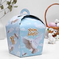 Пасхальная коробочка 'ХВ', белый голубь, 17 х 17 х 26 см (комплект из 5 шт.)