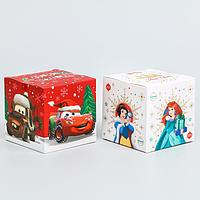 Коробка подарочная складная 'С новым годом!', Disney, 9 x 9 x 9 см (комплект из 2 шт.)