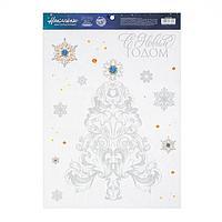 Наклейка виниловая 'С Новым Годом', с блестящей пластизолью, 29,7 х 42 см