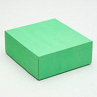 Коробка сборная, крышка-дно, мятная, 14,5 х 14,5 х 6 см (комплект из 5 шт.)