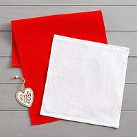 Набор полотенец LoveLife 'Сердце' вафля 35х60 см, махра 30х30 см + игрушка