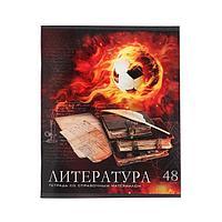 Тетрадь предметная 'Футбол', 48 листов в линейку 'Литература', обложка мелованный картон, УФ-лак, блок офсет
