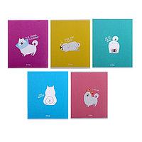 Тетрадь 48 листов в клетку 'Хорошо быть собакой', обложка мелованный картон, блок офсет, МИКС (комплект из 5