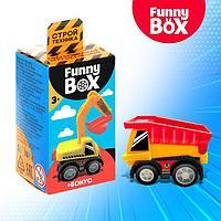 Игровой набор Funny Box 'Строй техника' карточка, фигурка, лист наклеек