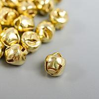 Набор декора для творчества металл 'Золотые' d0,6 см набор 30 шт