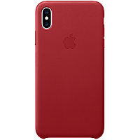 IPhone XS Max Leather Case - (PRODUCT)RED, Model