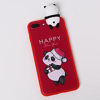 Чехол для телефона iPhone 7,8 plus 'Радостный панда', с персонажем, 7,7 х 15,8 см