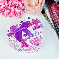 Коробка подарочная в форме сердца сердце 10 х 11 х 5,5 см МИКС (комплект из 6 шт.)