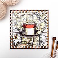 Заготовка для вязания 'Квадрат. Мировой кофе' 15 см