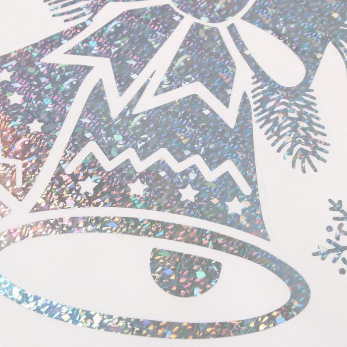 Наклейка виниловая 'Колокольчики', с голографичным тиснением, 21х29,7 см - фото 2