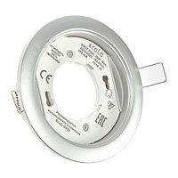 Светильник встраиваемый Ecola 5355, GX53, IP20, 220 В, 25x106 мм, круглый, цвет серебро