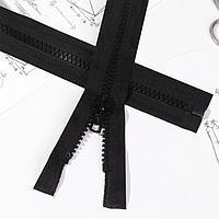 Молния 'Трактор', 7-8, разъёмная, 70 см, цвет чёрный (комплект из 5 шт.)