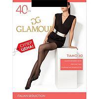 Колготки женские GLAMOUR Tiamo 40 цвет чёрный (nero), р-р 5