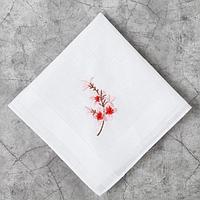 Носовой платок женский с вышивкой 'Леди' - 1 шт