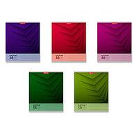 Тетрадь 48 листов в клетку Duotone Next, обложка мелованный картон,блок офсет, МИКС (комплект из 5 шт.)