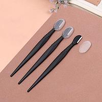 Набор бритв для коррекции бровей, с колпачком, 12,7 см, 3 шт, цвет чёрный