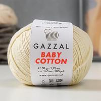 Пряжа 'Baby Cotton' 60 хлопок, 40 акрил 165м/50гр (3437 св. бежев.) (комплект из 5 шт.)