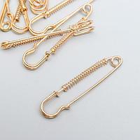 Набор декора для творчества 'Булавка' набор 10 шт золото 5,3х1 см