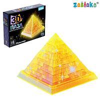 Пазл 3D кристаллический 'Пирамида', 18 деталей, МИКС