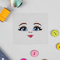 Термонаклейка для декорирования текстильных изделий 'Кукла Василиса', 6,5x6,3 см