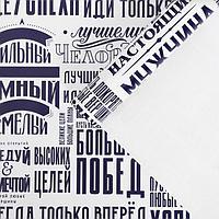 Бумага упаковочная глянцевая 'Большиx побед', 60 x 90 см (комплект из 10 шт.)