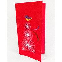Набор для создания новогодней поздравительной открытки - изонить 'Снеговик'
