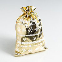 Мешочек подарочный парча 'Волшебство нового года', 16 x 24 см (комплект из 10 шт.)