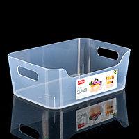 Корзина для хранения Scandi, 3,1 л, 24x17x9 см, цвет прозрачный