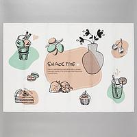 Наклейка на кафельную плитку 'Время десерта' 60х90 см