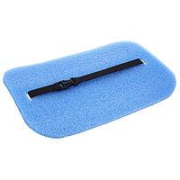 Коврик-сидушка с креплением на резинке, 35 х 25 см, толщина 10 мм, с фольгой, цвет синий