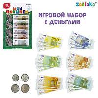 Игрушечный игровой набор 'Мои покупки' монеты, бумажные деньги (евро)