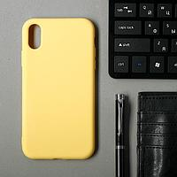 Чехол для iPhone Xr,TPU, желтый