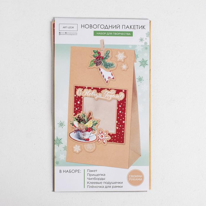 Пакет подарочный 'С Новым годом', набор для создания, 15.5 x 28.5 см - фото 1