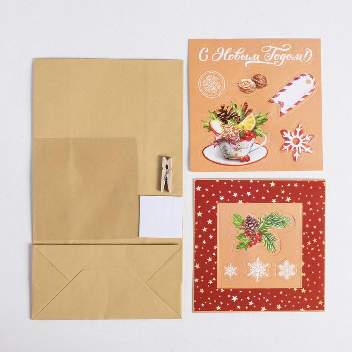 Пакет подарочный 'С Новым годом', набор для создания, 15.5 x 28.5 см - фото 2