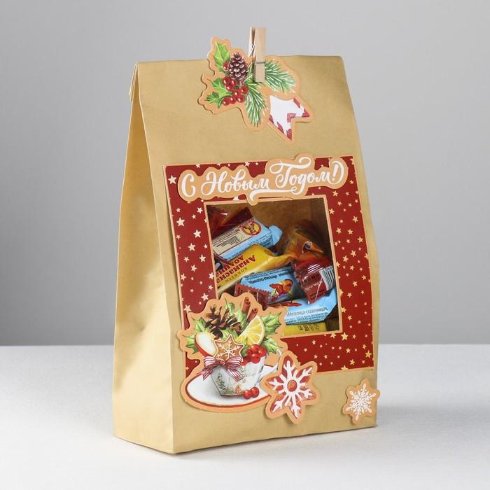 Пакет подарочный 'С Новым годом', набор для создания, 15.5 x 28.5 см - фото 4
