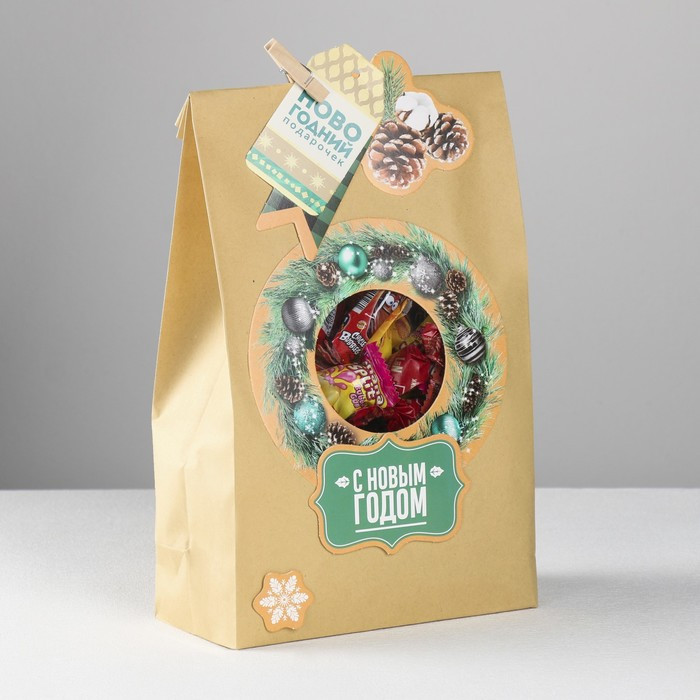 Пакет подарочный 'Новогодний подарочек', набор для создания, 15.5 x 28.5 см - фото 4