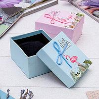 Коробочка подарочная под браслет/часы 'Фламинго', 9*8 (размер полезной части 5,4х8,4см), цвет МИКС (комплект