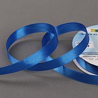 Лента атласная, двусторонняя, 12 мм x 33 ± 2 м, цвет синий 040