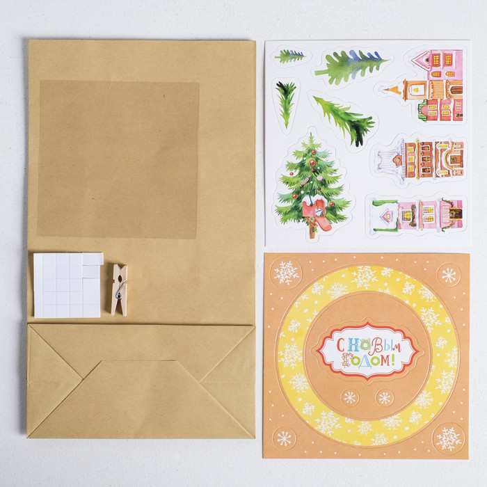 Пакет подарочный 'Сказка в городе', набор для создания, 15.5 x 28.5 см - фото 2