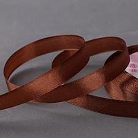 Лента атласная, 12 мм x 23 ± 1 м, цвет коричневый 30