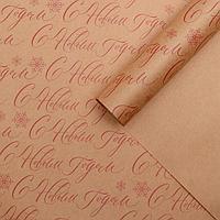 Бумага упаковочная крафтовая 'Новогодняя', 50 x 70 см (комплект из 20 шт.)