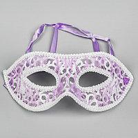 Карнавальная маска 'Незнакомка', цвет сиреневый