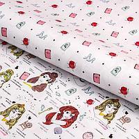 Бумага упаковочная глянцевая двусторонняя , Принцессы, 60x90 см (комплект из 10 шт.)