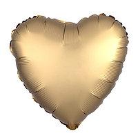 Шар фольгированный 19', сердце, цвет золотой, мистик (комплект из 5 шт.)