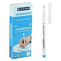 Ручка капиллярная Centropen 2551 0,5 мм зелёная 'Handwriter', трехгранная