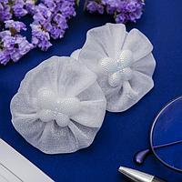 Резинка для волос 'Первоклашка' (цена за пару) бабочка пералмутр (комплект из 6 шт.)