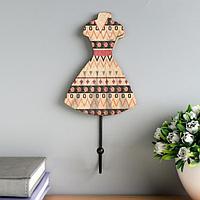 Крючок декоративный дерево 'Платье с восточными огурцами' МИКС 21х10х4,7 см